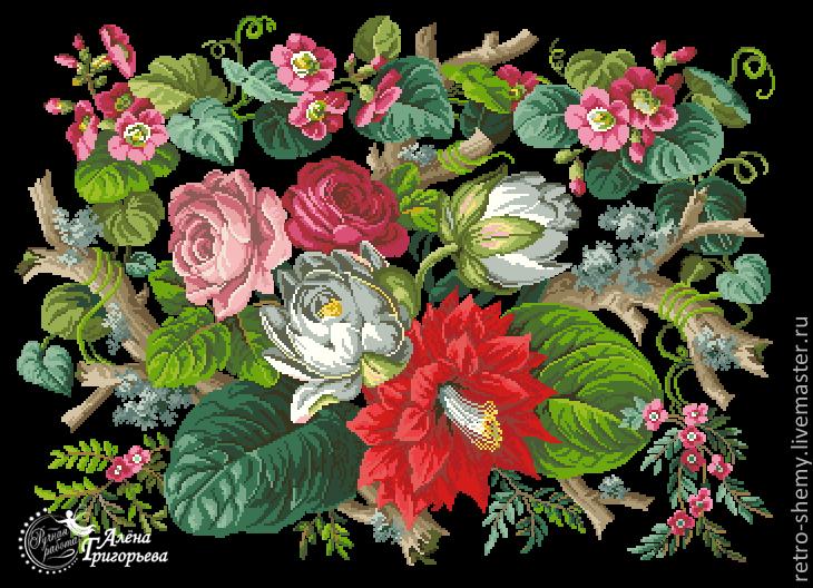 """Схема вышивки """"Водяные лилии"""", Схемы для вышивки, Москва,  Фото №1"""