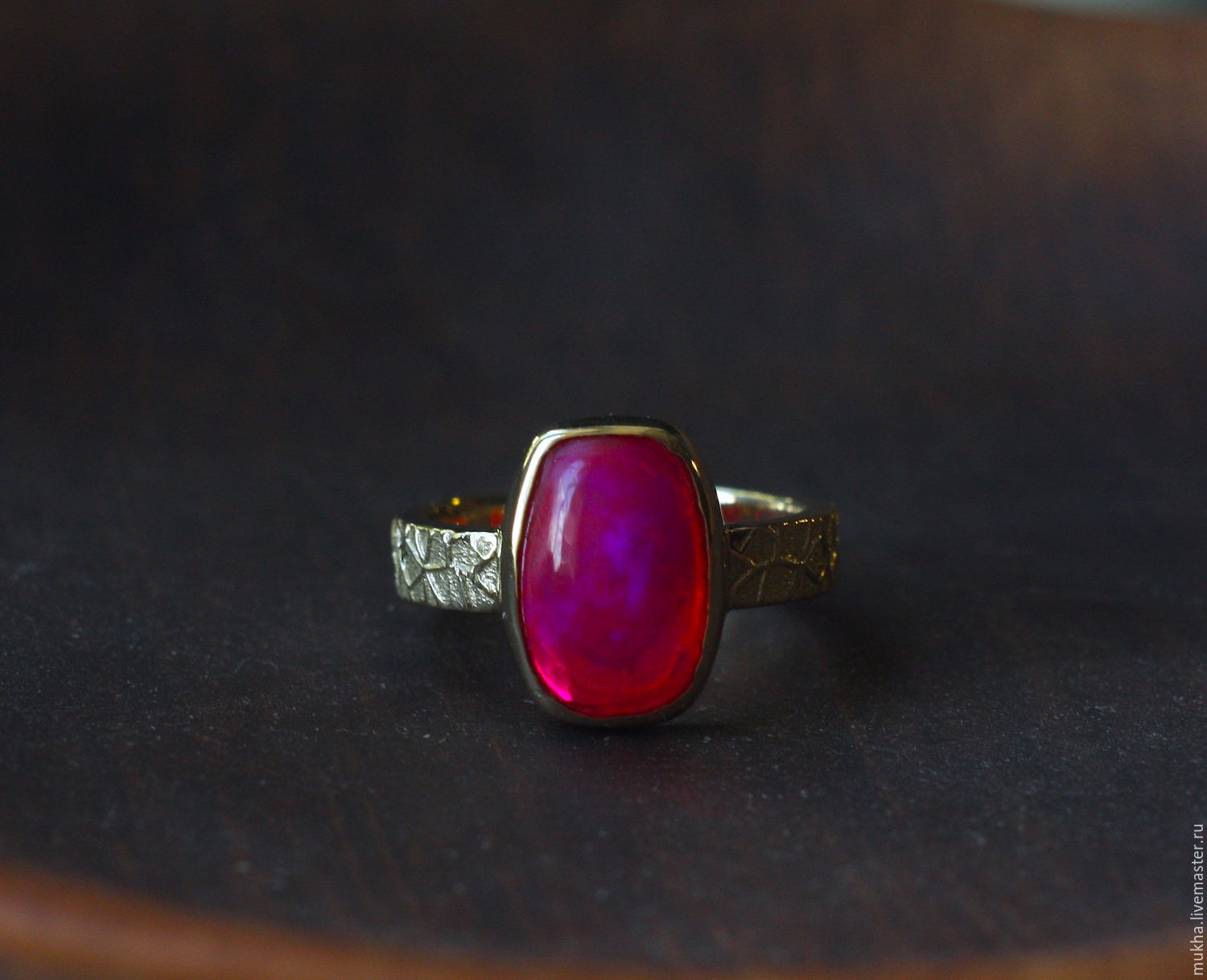 Hibiscus ring with Opal, Rings, Moscow,  Фото №1