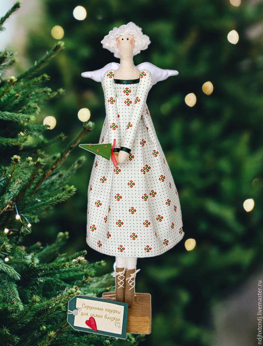Куклы Тильды ручной работы. Ярмарка Мастеров - ручная работа. Купить Фея Новогодняя. Handmade. Белый, рождество
