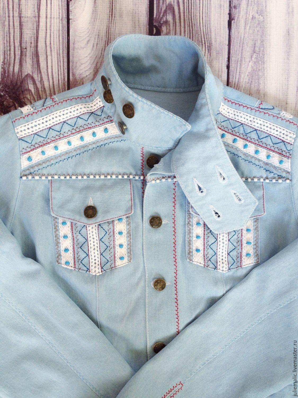 Women 39 s denim jacket women 39 s blue jacket boho jacket ethno for Outer cloth