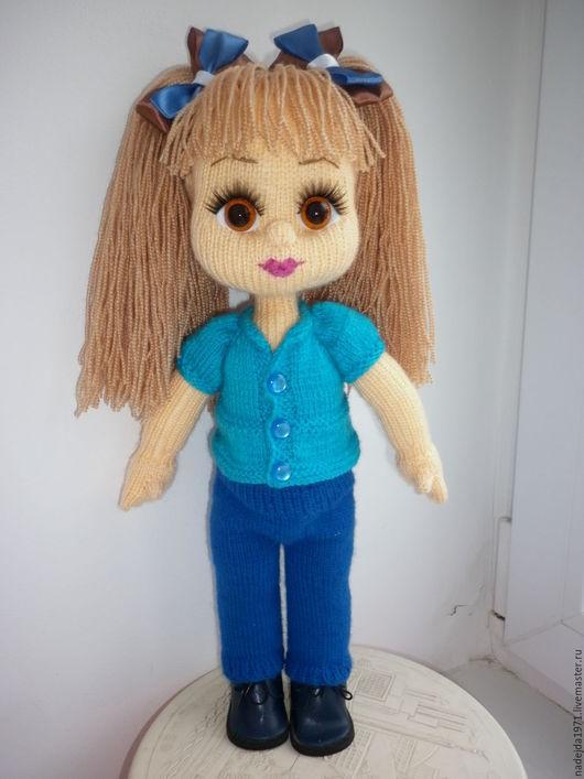 Человечки ручной работы. Ярмарка Мастеров - ручная работа. Купить Кукла ручной работы Алиса. Handmade. Бежевый, акриловая пряжа