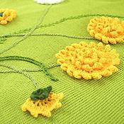 Работы для детей, handmade. Livemaster - original item Children`s blanket Dandelions. Handmade.