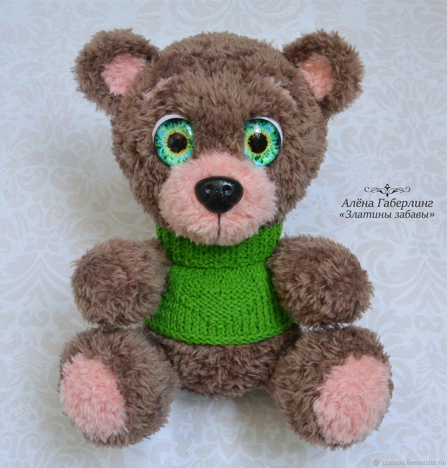 Bear Anand-toy, crochet, Stuffed Toys, Tomsk,  Фото №1