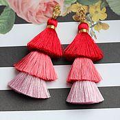 Earrings handmade. Livemaster - original item Earrings tassels Summer, tassels, silk tassels. Handmade.