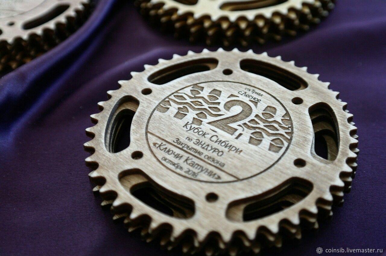Наградные медали тематические (авто/мото) деревянные, Атрибутика, Бийск, Фото №1