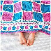 handmade. Livemaster - original item Children`s knitted plaid