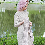 Одежда handmade. Livemaster - original item Dress casual knitted crochet casual style cotton oversized. Handmade.