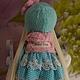 Коллекционные куклы ручной работы. Текстильная куколка- малышка Дженни. Юлия Соколова. Ярмарка Мастеров. Блондинка, кружево