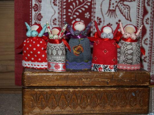 Народные куклы ручной работы. Ярмарка Мастеров - ручная работа. Купить Радостейки. Handmade. Народная кукла, оберег, магия