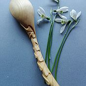 Утварь ручной работы. Ярмарка Мастеров - ручная работа Деревянная ложка /дубовый листик. Handmade.