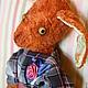 Мишки Тедди ручной работы. Если в сердце живет морковь). Лялечкины мишки (Nonafuma). Ярмарка Мастеров. Платье в клетку