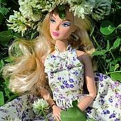 Куклы и игрушки ручной работы. Ярмарка Мастеров - ручная работа Кукольное платье Весна. Handmade.