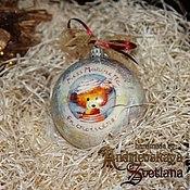 Подарки к праздникам ручной работы. Ярмарка Мастеров - ручная работа Новогодний шар Любимые игрушки. Handmade.