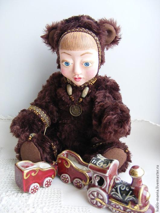 Коллекционные куклы ручной работы. Ярмарка Мастеров - ручная работа. Купить тедди-долл Мишка. Handmade. Тедди-долл, игрушка