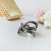 Украшения handmade. Livemaster - original item Silver Snake ring. Handmade.