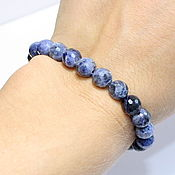 Украшения handmade. Livemaster - original item Bracelet made of natural sodalite with cut. Handmade.