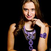 Украшения handmade. Livemaster - original item Jewelry set Fiona. Decoration made of genuine leather.. Handmade.