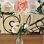 Цветы и флористика ручной работы. Ярмарка Мастеров - ручная работа Букет нежных пионов. Handmade.
