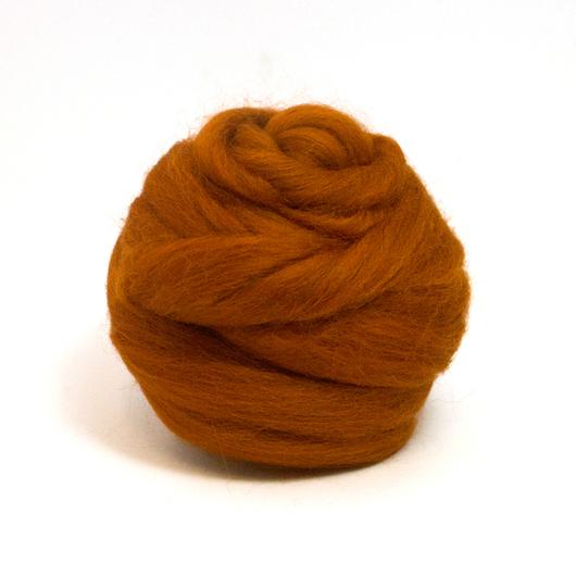 Валяние ручной работы. Ярмарка Мастеров - ручная работа. Купить Шерсть Коридейл окрашенная, Англия - цвет Ржавчина. Handmade. Рыжий