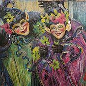 """Картины ручной работы. Ярмарка Мастеров - ручная работа Картина """"Венецианские маски"""". Handmade."""