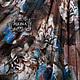 """Юбки ручной работы. Ярмарка Мастеров - ручная работа. Купить Юбка шелковая """"Бирюза в шоколаде"""". Handmade. Цветы, романтика"""