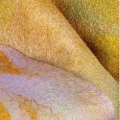 """Аксессуары ручной работы. Ярмарка Мастеров - ручная работа Палантин  валяный """"Золото инков"""". Handmade."""