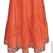Одежда ручной работы. Ярмарка Мастеров - ручная работа Юбка длинная полусолнце теплая рыжая. Handmade.