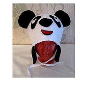 Аксессуары handmade. Livemaster - original item hat Panda. Handmade.