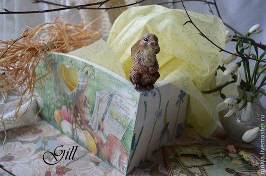 """Корзины, коробы ручной работы. Ярмарка Мастеров - ручная работа. Купить Короб """"Пасхальный кролик"""". Handmade. Короб для хранения, для яиц"""