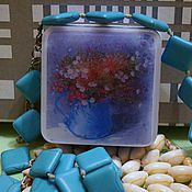 Косметика ручной работы handmade. Livemaster - original item Soap with a picture of a Spring bouquet in a pot. Handmade.