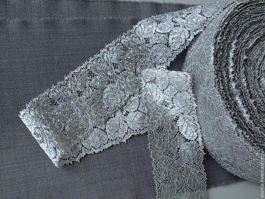Шитье ручной работы. Ярмарка Мастеров - ручная работа. Купить Тесьма кружевная серебро. Handmade. Платье, шитье, кружевной, италия