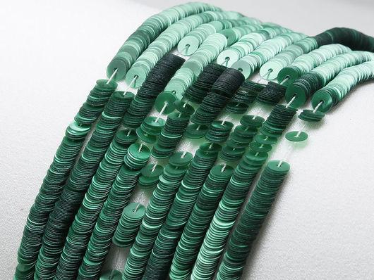 Вышивка ручной работы. Ярмарка Мастеров - ручная работа. Купить Пайетки 4мм Плоские Nacrolaque Vert Reseda Langlois-Martin Paris. Handmade.