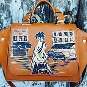 Классическая сумка ручной работы. Ярмарка Мастеров - ручная работа М 669 ваш яркий аксессуар. Handmade.