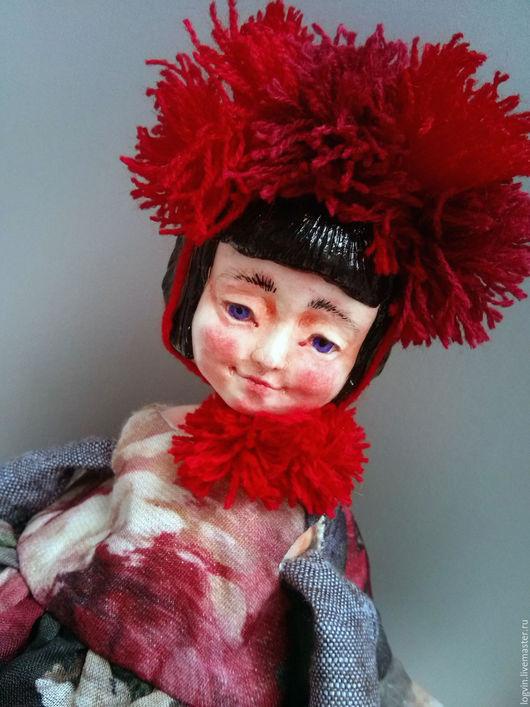 Коллекционные куклы ручной работы. Ярмарка Мастеров - ручная работа. Купить Лилли. Handmade. Бордовый, Будуарная кукла
