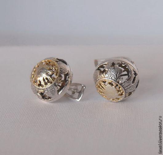 'Full MOON' - earrings, Earrings, Kurgan,  Фото №1
