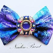 Украшения handmade. Livemaster - original item Hair clip bow Lilac universe. Handmade.