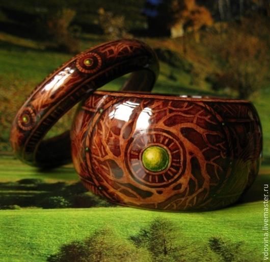 """Браслеты ручной работы. Ярмарка Мастеров - ручная работа. Купить браслеты """"Сердце леса"""". Handmade. Браслеты, зеленый браслет"""