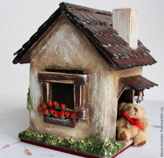 Кукольный дом ручной работы. Ярмарка Мастеров - ручная работа. Купить Кукольный миниатюрный домик handmade Домишка для Тишки. Handmade.