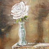 Картины и панно ручной работы. Ярмарка Мастеров - ручная работа Застенчивая Роза. Handmade.