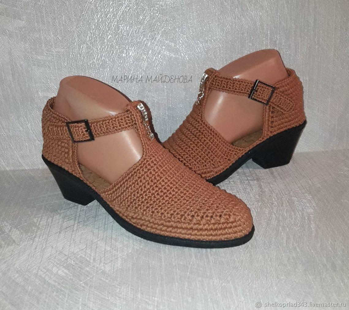 Обувь ручной работы. Ярмарка Мастеров - ручная работа. Купить Летние туфли TANGO, в наличии размер 36 на длинуу стопы 24, 5 см. Handmade.