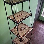 Для дома и интерьера handmade. Livemaster - original item Wrought iron shelves mosaic shelves