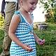 """Одежда для девочек, ручной работы. Ярмарка Мастеров - ручная работа. Купить Сарафан детский """"Жаркое лето"""". Handmade. Разноцветный"""
