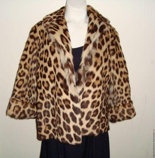 Верхняя одежда ручной работы. Ярмарка Мастеров - ручная работа. Купить Жакет из натурального меха с леопардовым принтом. Handmade. Комбинированный