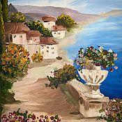 Картины ручной работы. Ярмарка Мастеров - ручная работа Картина «Средиземноморский пейзаж». Handmade.