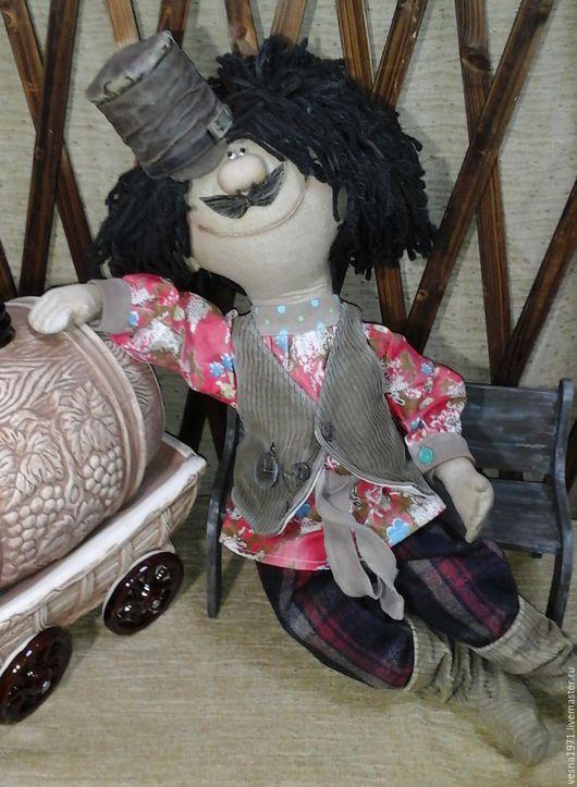 Ароматизированные куклы ручной работы. Ярмарка Мастеров - ручная работа. Купить кавалер, всегда бы так жил. Handmade. Разноцветный, вельвет