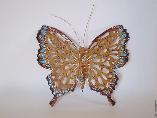 Сувениры ручной работы. Ярмарка Мастеров - ручная работа. Купить Бабочка из бересты. Handmade. Бабочка, голубой, магнит на холодильник, сувенир