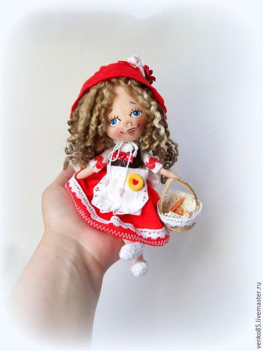 Коллекционные куклы ручной работы. Ярмарка Мастеров - ручная работа. Купить Чудо на ладошке Красная Шапочка. Handmade. Ярко-красный
