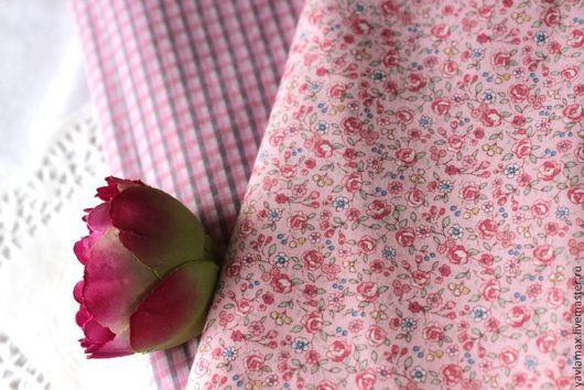 Шитье ручной работы. Ярмарка Мастеров - ручная работа. Купить Набор тканей Розовые Розы. Handmade. Ткань для рукоделия, ткань
