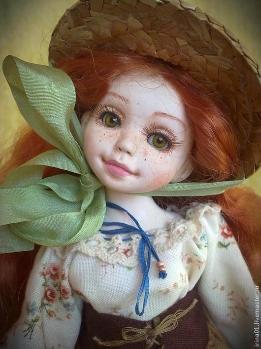 """Коллекционные куклы ручной работы. Ярмарка Мастеров - ручная работа. Купить """"Чудо в чемоданчике"""" Варюша.. Handmade. Рыжий, чемоданчик"""