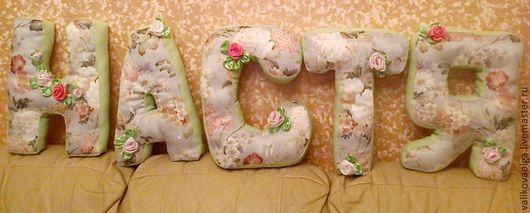 Интерьерные слова ручной работы. Ярмарка Мастеров - ручная работа. Купить Мягкие буквы-подушки. Handmade. Буквы, детская